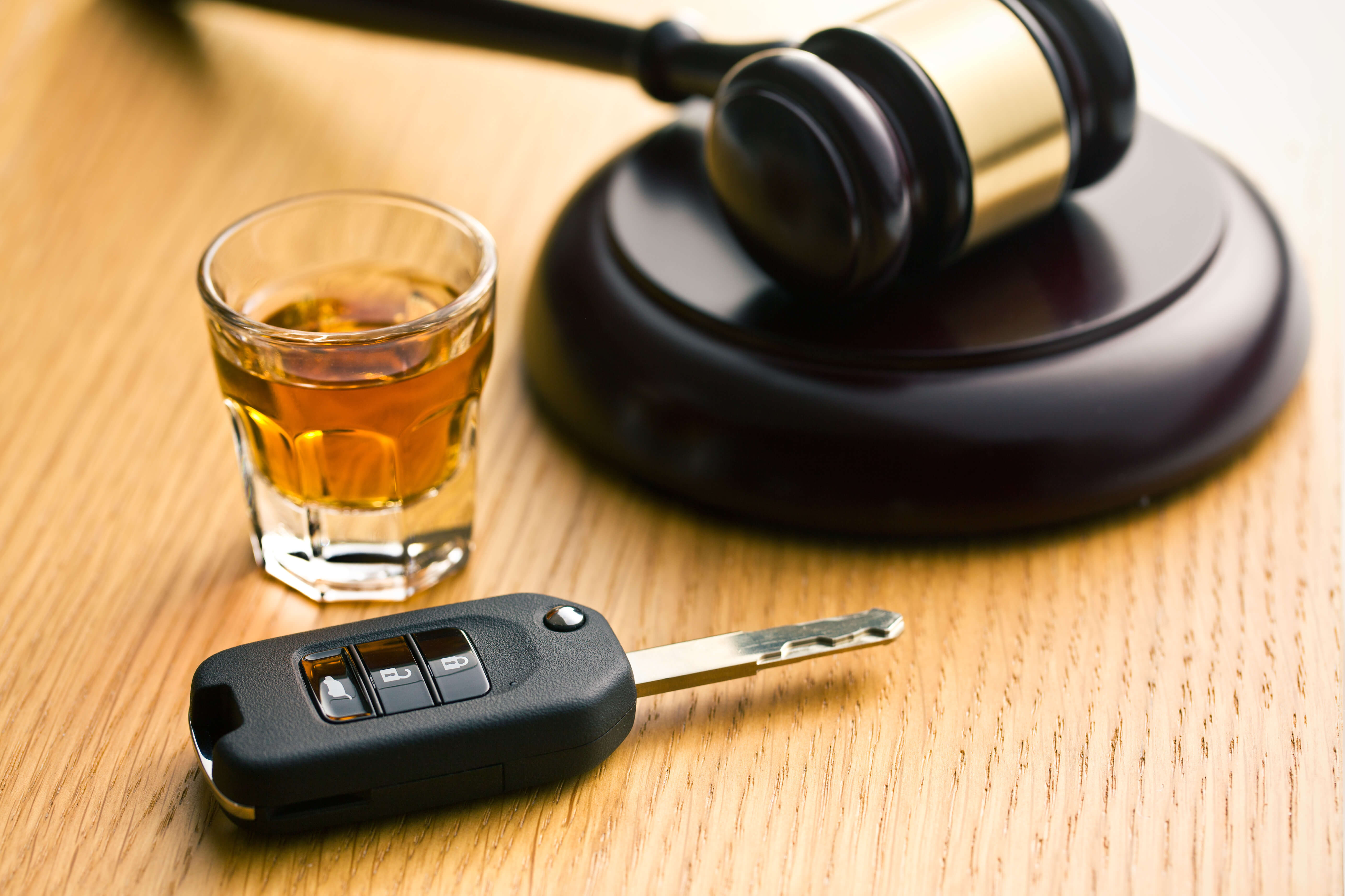 Gavel, alcohol and car keys - Beating a DUI