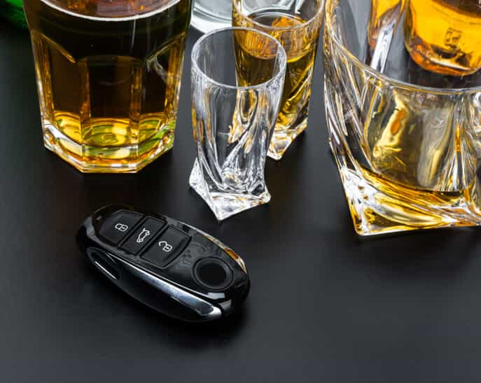 Alcohol and car keys - out of state DUI California